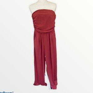 POOF New ❤️ York strapless jumpsuit size Small